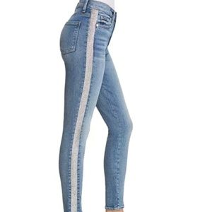 7 for all Mankind Skinny Jean with Silver Stripe